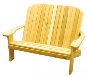 Click to enlarge image  - Adirondack Loveseat - Designed for love birds with room for two to curl up in! $370